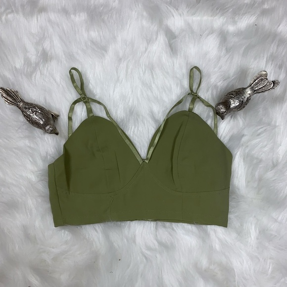 261a42b1145d8 Tea n Cup Strappy Crop Top Bralette Size S M